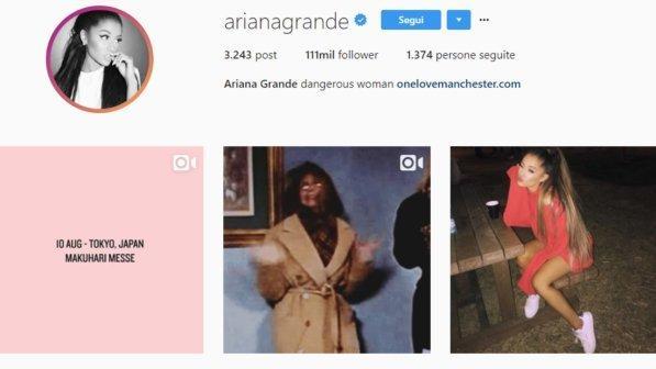 ariana grande hacker instagram