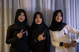 Voice of Baceprot band ragazze musulmane