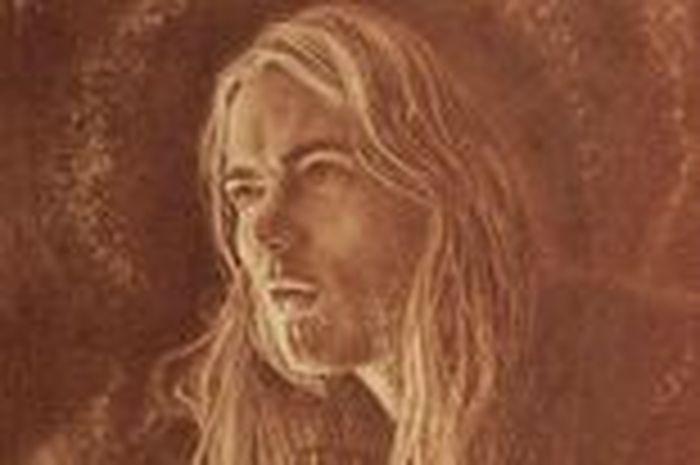 Dipinto quadro con sangue di cantante