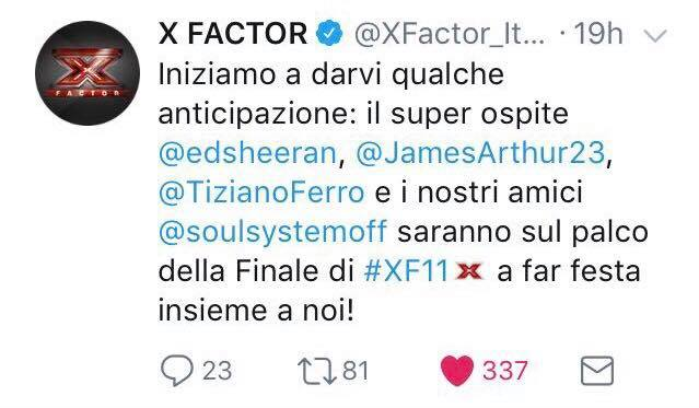 x factor finale ospiti