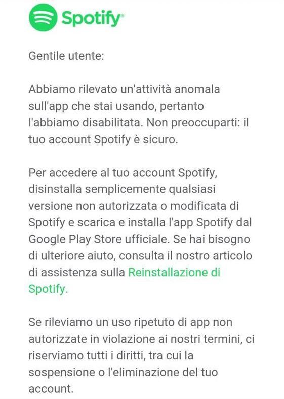 crisi utenti Spotify