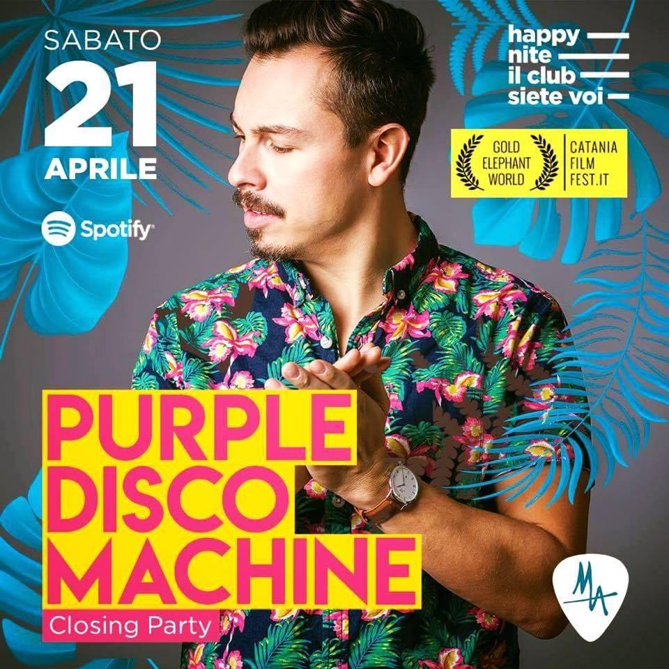 Purple Disco Machine evento catania