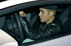 Justin Bieber incidente stradale