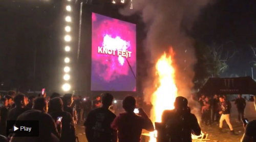 Knotfest caos sommossa