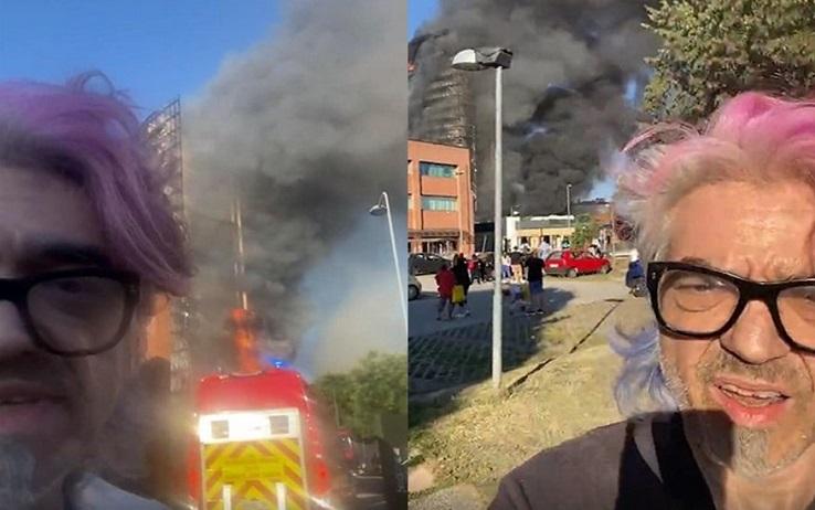 Morgan incendio Milano
